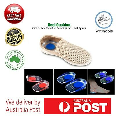 Heel Pain Relief Plantar Fasciitis Spur Back Cushion Cup Gel Pad Washable Stick