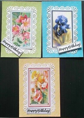 Pretty Card Topper Set = 3 Layers 3 Toppers, 3 Fancy Toppers, 3 Sentiments