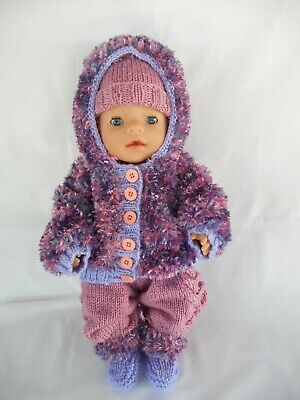 Hand knitted dolls clothes (Winter set) fit 40-43cm 17inch Baby Born doll
