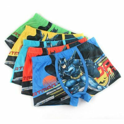 Kid Cotton Underwear Batman Male Cartoon Boys Comics Boxers Panties 3-5 Years