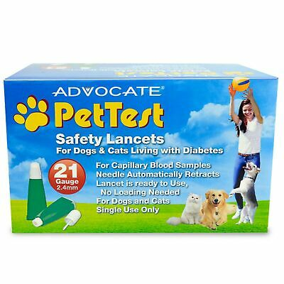 Advocate PHA00107 100 Piece Pet Test Safety Lancets, 21g x 2.4mm