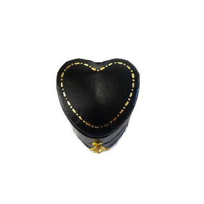 Ring Box Heart Shaped Antique Victorian Style Leatherette Gilding NEW