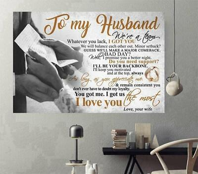To My Husband I Love You The Most Horizontal Paper Poster Without Frame