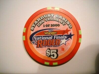 STARDUST $5.00 Casino Chip Las Vegas Wrangler RODEO National Finals Limited $5