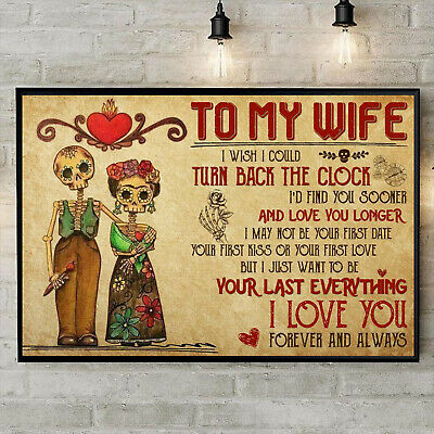 To My Wife I Love You Forever And Always Horizontal Paper Poster Without Frame