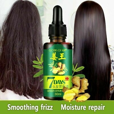 7 Days Ginger Germinal Serum Essence Oil Hair Loss Treatment Growth Hair 30ML