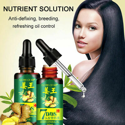 Regrow 7 Day Ginger Germinal Hair Growth Serum Hairdressing Oil Loss Treatement