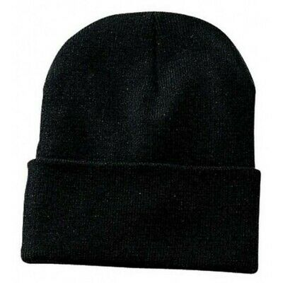 Bronx Plain Football Supporters Cap Winter Wear Soft Woolen Beanie Hat Black