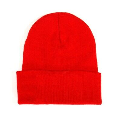 Bronx Plain Football Supporters Cap Winter Wear Soft Woolen Beanie Hat Red