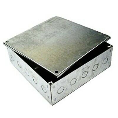 "12""x12""x4"" Adaptable Galvanised Steel Box Knockouts Electrical Square Enclosure"