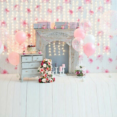 3x5ft Vinyl Baby Flower Wall Photography Background Photo Backdrop Studio Props