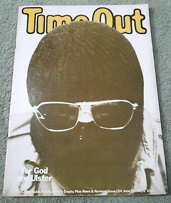 Rare Vintage Time Out Living Guide To London Magazine No.124 June 30-6 1972 VG