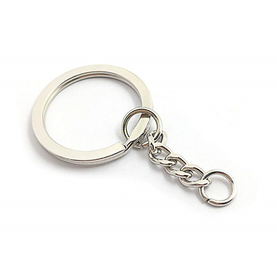 LAKIND 100PCS Keyring Blanks Split Metal Key Rings with Link Chain and Open Jump
