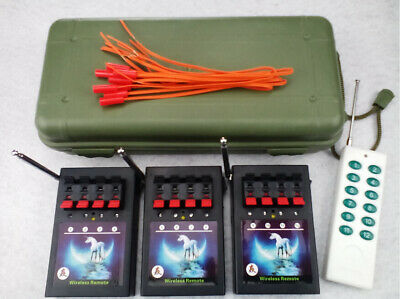 12 Cue Wireless Fireworks Firing system equipment+Remote control+12pcs wire