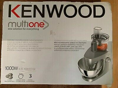 KENWOOD Multione KHH321SI Stand Mixer Silver Stainless Steel 1000 W 4.3L Bowl