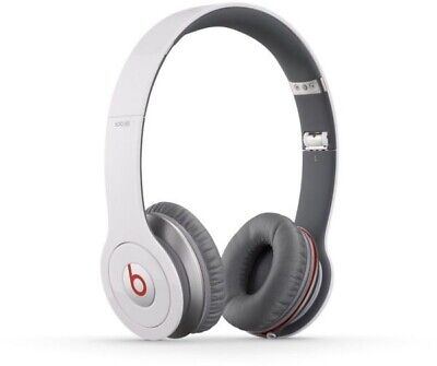 Beats by Dr. Dre Solo HD On-Ear White Headphones With OriginalBox & Accessories