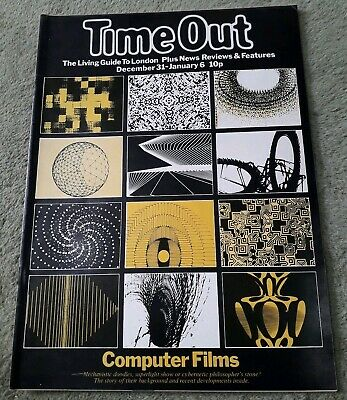 Rare Vintage Time Out Living Guide To London Magazine December 31-6 1971/2 VG+