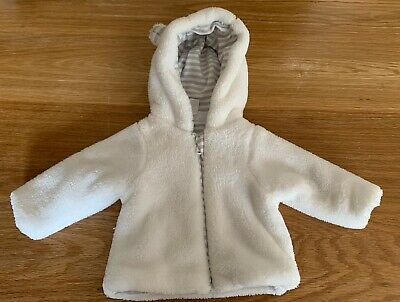 White Company Tiny Baby Sized Fleece Jacket