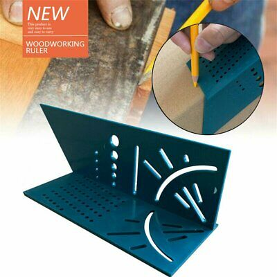 3D Mitre Angle Measuring Square Size Measure Tool With Gauge & Ruler 2019 DD