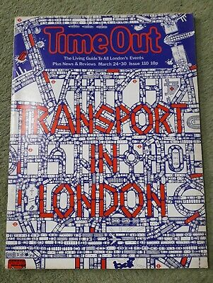 Rare Vintage Time Out Living Guide To London Magazine No.110 March 24-30 1972 VG