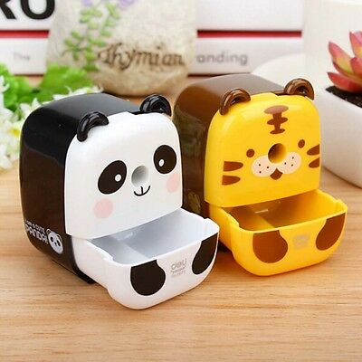 1Pc Cute For Kids Pencil Sharpener Plastic Student Stationery B1N0