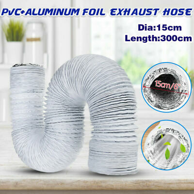 15cm * 3m Flexible Air Conditionneur Échappement Tuyau Vent Tube 150mm Diamètre