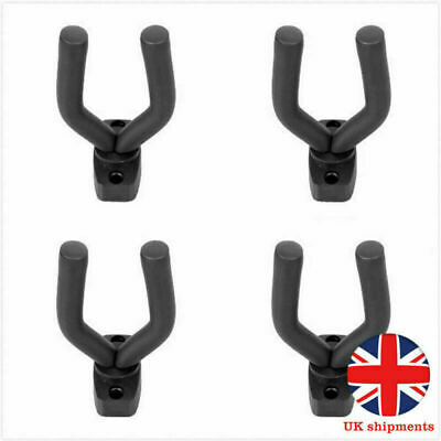 4X Padded Display Mounted Wall Guitar Hanger/Bracket Bass Acoustic Electric UK