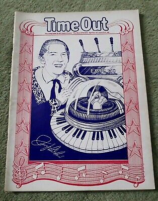 Rare Vintage Time Out Living Guide To London Magazine No.114 April 21-27 1972 VG