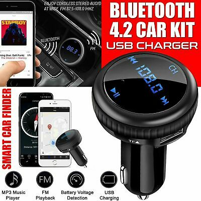 Bluetooth Car FM Transmitter MP3 Player Hands free Radio Adapter USB Charger Kit