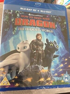 How To Train Your Dragon The Hidden World 3D & Standard Blu-ray (2 discs) Sealed
