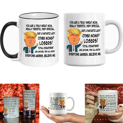 15af8059fb7 Funny Donald Trump Fathers Day Great Dad Coffee Mug Gift Best Dad Cup Ever