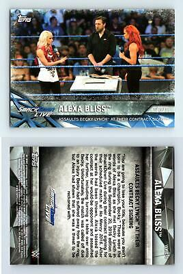 Alexa Bliss #WWE-8 - WWE Womens Division WWE Matches & Moments 2017 Topps Card