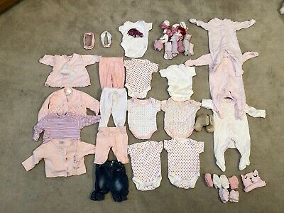 Baby Girls Clothes 44 Piece Bundle (Newborn/Up To 10lbs)