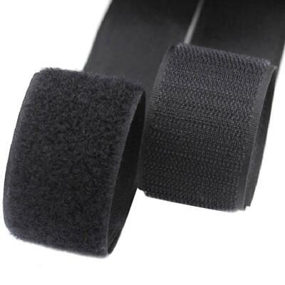 2M Self Adhesive Hook And Loop Fastener Tape Fastening Strap Sticky 50mm Black