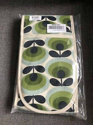 Orla Kiely Double Oven Glove 70's Oval Flower Green - Brand New in Box