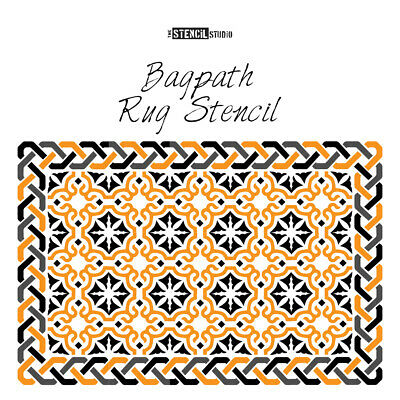 Bagpath Patio Rug Stencil - Get cosy outside - Give patios a makeover! 10928