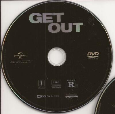 Get Out (DVD, 2017) U.S. Issue Disc Only Jordan Peele Horror Movie Free Shipping