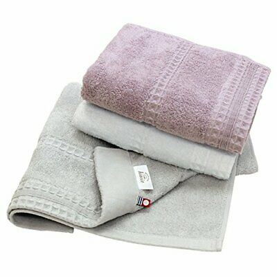 Hiorie Imabari Towel Certified Fluffy Rib Towel Face Towel 3 Set Off White