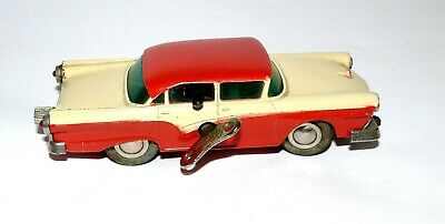Schuco Micro Racer 1045 Ford Friktion Auto Blech Spielzeug Rot-Beige 14803