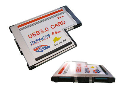 Card Expresscard 54mm USB3.0 USB 3 Superspeed 2 Ports - Flush Flush Mount