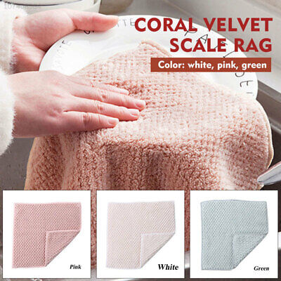 FD6A Coral Fleece Washing Cloth Home Kitchen Tools Cleaning Tool Wiping Cloth