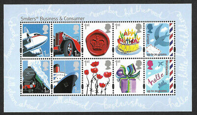 GB 2010 Business and Consumer Smilers u/m mnh stamp miniature sheet MS3024