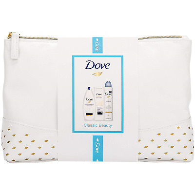 Dove  Classic Beauty Wash Bag Women's Gift Set with Body Lotion, Body Wash and -