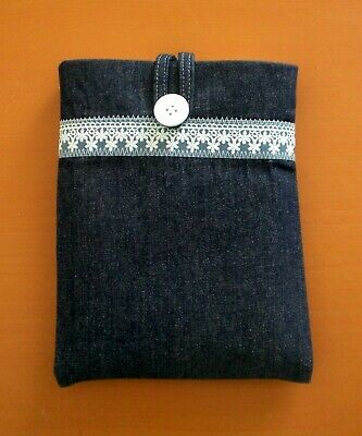 Handmade Small Book / Notebook Sleeve / Cover / Protector Denim Fabric New Gift