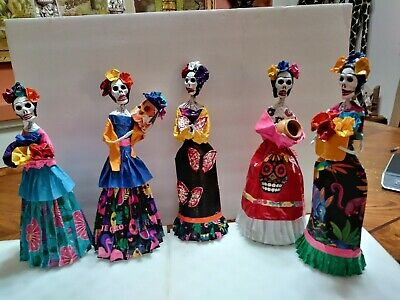Day Of The Dead Paper Mache Frida Khalo