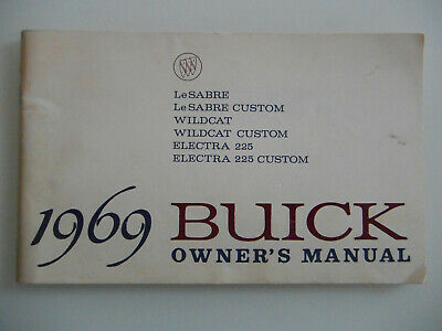 Buick Owner´s Manual Le Sabre Wildcat Electra 225 Bedienungsanleitung USA 1969
