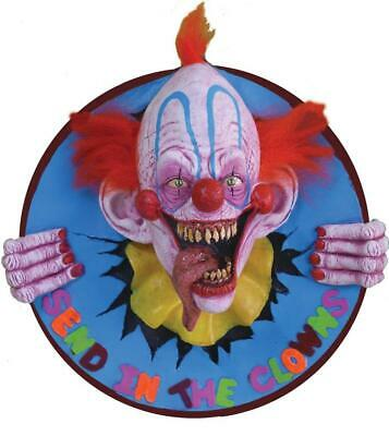 Evil Send in the Clowns 3D WALL PLAQUE HALLOWEEN Prop Decor HAUNTED HOUSE SPIRIT