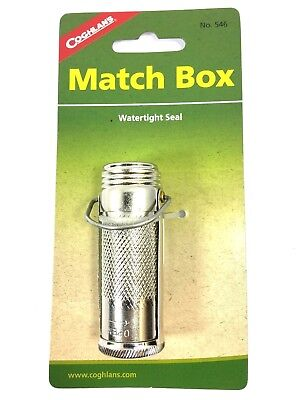 Coghlans Waterproof Match Safe Box Holder Survival Watertight Seal Marbles 1282O