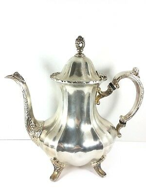Towle Large Footed Tea Pot Silverplate GRAND DUCHESS Coffee Vintage  PX-RP-419