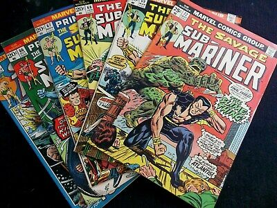 Lot of 6 Sub Mariner Bronze age comics, 72,69,68,67,66,55  FN to FN/VF